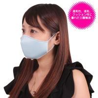 日本製 涼やかメッシュマスク サックス