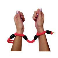 連結型拘束ロープ(黒玉・赤ロープ80cm)