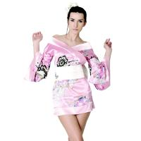 CR0021 Mini kimono dress pink [6 remaining]