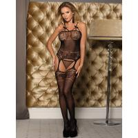 Seduction tempting design Open garter body stocking