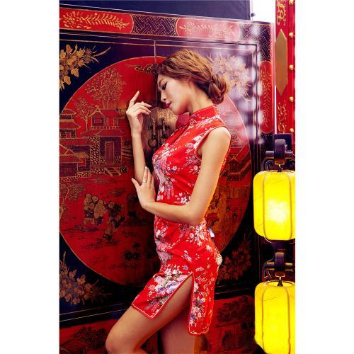 イイ女情熱真紅チャイナドレスセット