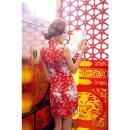 イイ女情熱真紅チャイナドレスセットの画像(1)