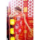 イイ女情熱真紅チャイナドレスセットの画像(2)